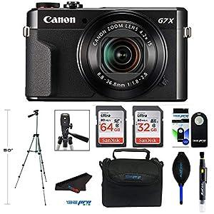 Canon PowerShot G7 X Mark II Digital Camera with Wi-Fi and 4.2X Optical Zoom (Black) + Pixibytes Pro Bundle by Pixibytes