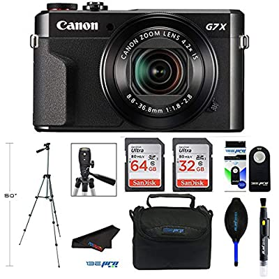 Canon PowerShot G7 X Mark II Digital Camera with Wi-Fi and 4.2X Optical Zoom (Black) + Pixibytes Pro Bundle by Pixibytes