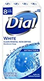 Product Image of the Dial Antibacterial Deodorant Soap, White, 4 Ounce (Pack of 8) Bars