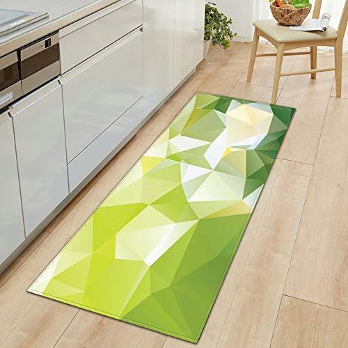 HLXX Alfombra geométrica Antideslizante para Cocina, Sala de Estar, balcón, baño, al Aire Libre, Alfombra Impresa en 3D, Felpudo Absorbente para Pasillo, A4 50x80cm