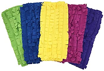 Image: Xanitize Fleece Sweeper Mop Refills for Swiffer - Reusable, Dry Duster, for Hardwoods, Laminates - 5-pack Rainbow II