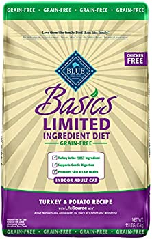 Blue Buffalo Ingredient Diet Grain Free, Natural Indoor Adult Dry Cat Food