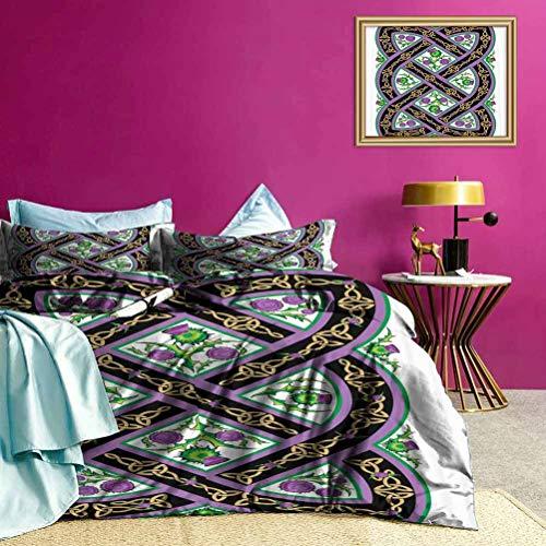 Adorise Bedspreads Coverlet Celtic Ornamental Motif Duvet Quilt Comforter Cover Gorgeous Colour, Good Wuakity - Full Size