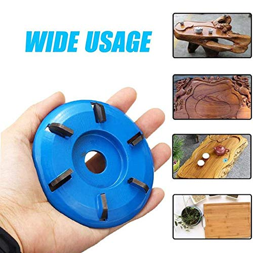 6 Teeth Wood Carving Disc,90mm Diameter 16mm Bore Power Wood Carving Disc Tool Milling Cutter Angle Grinder Attachment