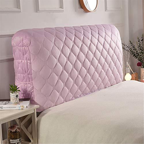 XDKS - Copritestiera, per letto e testiera, in cotone spesso, resistente alla polvere, elasticizzato, tinta unita, 180 x 60 cm, colore: viola