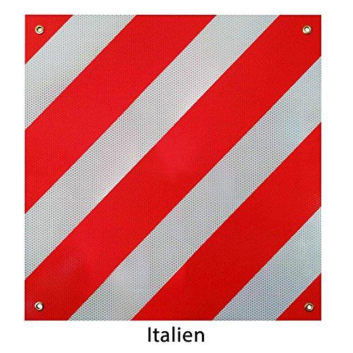 Rot-weißes Warnschild für Fahrradträger - 2