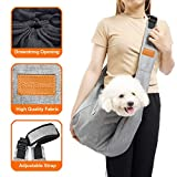 SniffSnout Pet Sling for Small Dogs - Dog Sling Carrier - Sturdy Washable and Comfortable Hands Free Small Dog Carrier with Zipper Pocket Safety Clip