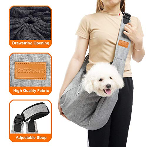 SniffSnout Pet Sling for Small Dogs - Dog Sling Carrier - Sturdy Washable and Comfortable Hands Free...