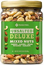 Member's Mark Unsalted Deluxe Mixed Nuts 34 oz. (pack of 4) A1