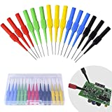BingSnow Non-destructive Pin Test Probes Pin Insulation Piercing Needle, 15 Pack Probes Pin Set Use for Car Tester (Black, Red, Green, Yellow, Blue - 3/Each Colors)