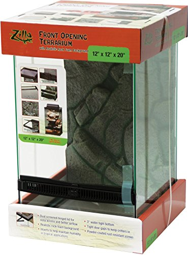 Zilla Front Opening Terrarium - 12' x 12' x 20', Black