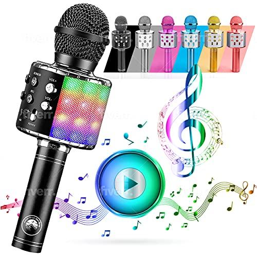 ATLAS. Microfono Karaoke, Wireless Bluetooth USB LED Flash Microfono Portatile per promozione regalo...