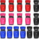 4 Sets Waterproof Dog Shoes Rain Snow Dog Booties Breathable Paw Protector Anti-Slip Dog Sock Shoes Soft Soled Dog Boots with Adjustable Drawstring for Small Dog, Red Black Blue and Pink (Large)