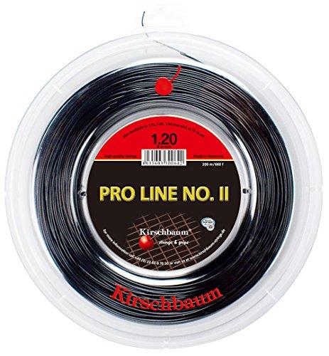 Kirschbaum Pro Line No. Ii 200M Schwarz Tennis Saitenrolle 200m Monofil Schwarz 1,20