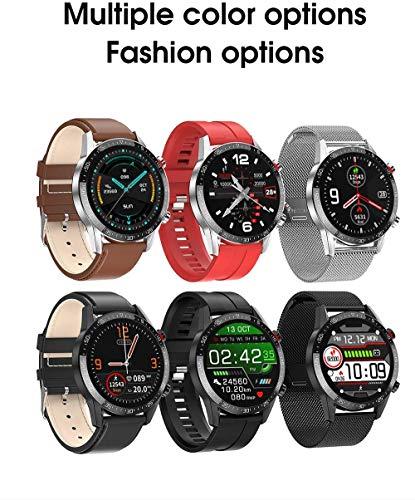 jpantech Smartwatch Reloj Inteligente Mujer Hombre | Llamadas Bluetooth |Pantalla táctil Completa | Monitor de ECG | monitoreo de la frecuencia cardíaca medición de la presión Arterial(Plata) miniatura