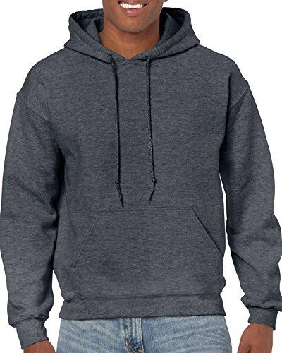 Gildan Men's Fleece Hooded Sweatshirt, Style G18500, Dark Heather, 2X-Large