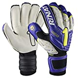 Rinat Men's ARKANO USA SPINE Goalkeeper's Glove, Purple/Gold, Size 9