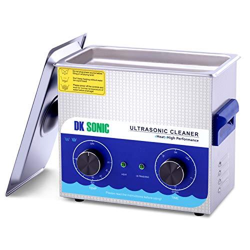Limpiador Ultrasónico Profesional DK SONIC Limpiador Ultrasonidos de Acero Inoxidable 3L con Calentador para Partes de Pistola de Carburador Relojes de Latón Joyas Dentales Monedas de Metal