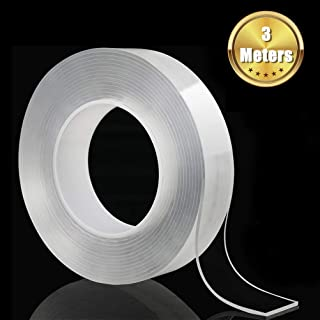 SILENT® 3M Double-Sided Tape Traceless Washable Adhesive Tape Invisible Gel Pad (Transparent, 3M)