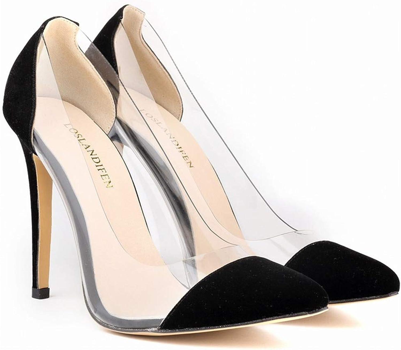LLBubble High Heels Transparent shoes Women Pointed Toe Women Pumps