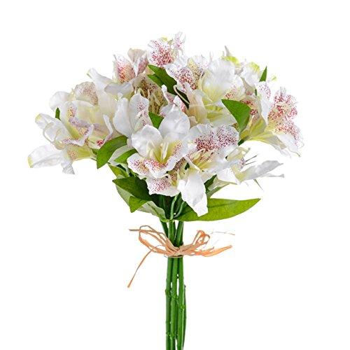 Floristrywarehouse Artificial Alstroemeria Bundle Cream 13 Inches x 5 Stems