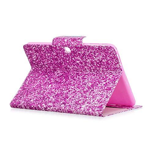 XTstore Samsung Galaxy Tab 4 10.1 Hülle Case, Bling Glitzer Leder Tasche Flip Cover Schutzhülle Schale Etui mit Standfunktion für Samsung Galaxy Tab 4 10.1 Zoll Tablet SM-T530/T535 (Auto Schlaf/Wach)