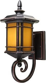 DFEIL ヴィンテージ屋外ウォールランプ防水ip54パティオヴィラ通路ポーチアルミウォールライトエクステリアガーデンバルコニーゲートテラスE27ウォールランタン器具照明