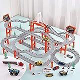 Juguete para Niños Coche Eléctrico Pista De Carreras Puzzle Pista Aleación Coche Tren Pequeño Niño 3-6 Años Carreras,