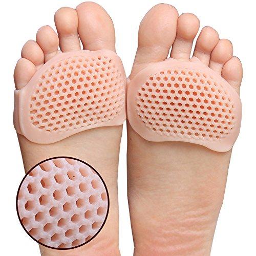 IECLSF Silicone Honeycomb Plantillas de antepié Zapatos de tacón Alto Almohadillas de Gel Cuidado de la Salud Transpirable Plantilla de Calzado Masaje de Calzado Inserto Desnudo