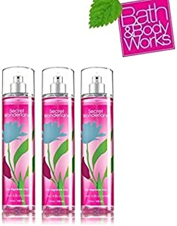 Lot of 3 Bath & Body Works Secret Wonderland Fine Fragrance Mist 8 Fl Oz Each (Secret Wonderland)