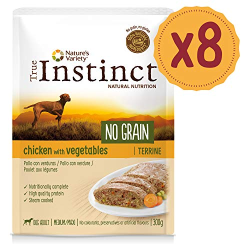True Instinct No Grain Pollo - Terrina - Medium/Maxi - Adult 300G X 8-2400 Gr