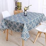 XXDD Mantel Impermeable de polígono geométrico Estilo decoración Fresca nórdica Mantel de decoración de cocinas para el hogar A5 140x180cm