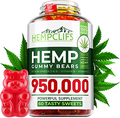 HEMPCLIFS Hemp Gummies 950,000 – Fruity Relaxing Hеmp Oil Gummies – Stress & Anxiety Relief – Effective Brain Support – with Omega 3, 6, 9 & Vitamin E, B – Promotes Good Sleep & Boosts Immunity