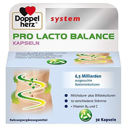 Doppelherz system PRO LACTO BALANCE – Immunsystem stärken – 12 ausgesuchte Milchsäure- plus Bifidokulturen – 30 Kapseln