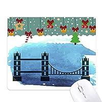 タワー橋ロンドン・イングランド英国英国 ゲーム用スライドゴムのマウスパッドクリスマス