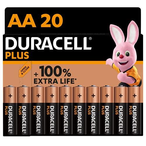Duracell NEU Plus AA Mignon Alkaline-Batterien, 1.5V LR6 MN1500, 20er-Pack, LR06, 20 Stück