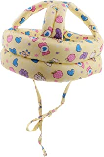 Dolity Toddler Adjustable Safety Helmet Headguard Protective Harnesses Hat Safety Caps for Walking & Crawling - Candy Pattern