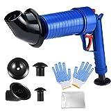 【加圧式パイプクリーナー】排水口のつまり予防、解消に!片手で出来る加圧式の排水口クリーナー! 洗面所、浴室の排水口、バスタブ、シンクやトイレまでこれ一本!様々な排水口にぴったりはまります。空気を溜めて、トリガーを引くだけ!排水管につまった汚れ,においの元を軽減します! 【強力な効果】左手でこの 疏通ツールーを握って、右手で空気ポンプのレバーをプッシュし、もうプッシュできない程度に止まります(8~10回ぐらい)。そして、詰まり取りのところをアライメントして、引き金を引いて、一気にゴミ、髪の毛などを...