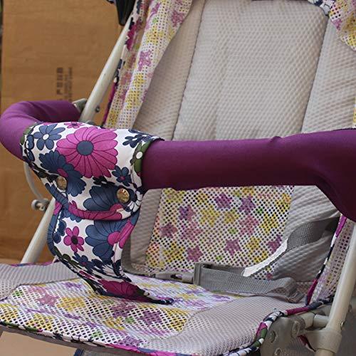 725mmx145mm Coprimaniglie Universale per Passeggini Panno Oxford Passeggino Manico in Tessuto Guaina per Manubrio Copertura Impermeabile con Gancio Loop Carrozzina Rimovibile (Viola) (Viola)
