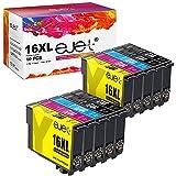 ejet Kompatibel Tintenpatrone als Ersatz für Epson 16 16XL Druckerpatronen WF-2630 WF-2760 WF-2540 WF-2660 W-F2750 WF-2650 WF-2510 WF-2520 WF-2530 WF-2010 (4 Schwarz/2 Cyan/2 Magenta/2 Gelb,10er Pack)