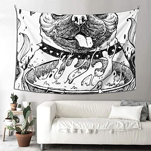 N\A Baño Arte Decoración de la Pared Scary Devil Clown Head Tapiz Tapiz para Adolescentes Arte Colgante de Pared Hogar para Sala de Estar Dormitorio