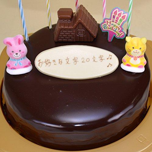誕生日ケーキ/バースデーケーキ/飾り付き/生チョコ ザッハトルテ チョコレートケーキ5号