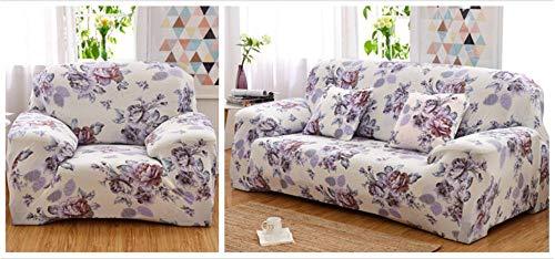 ARTEZXX Sofabezug 1 Sitzer Lila Rose Sofaüberwurf Schonbezug Polyester Spandex CouchabdeckungWohnkultur für Ganze Saison Volle Deckung moderner Druck
