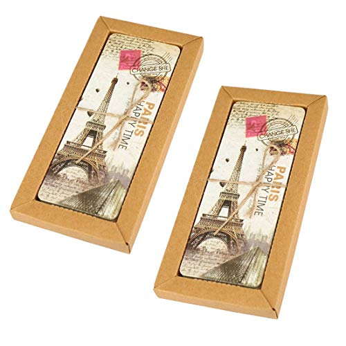 European Travel Postcard Bookmark Set with 60 Bookmarks Featuring Vintage Scenes - with Eiffel Tower, Paris, Rome, London & More