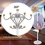 ZfgG - Perchero de acero inoxidable para el suelo, para dormitorio, sala de estar, creativo, color blanco