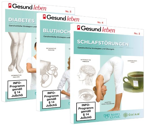 3 DVD Set - Gesundheit: Schlafstörungen - Bluthochdruck - Diabetes