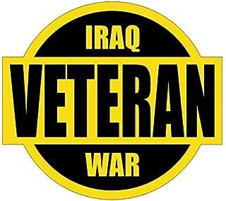 Iraq War Veteran Hard Hat / Helmet Sticker Decal Label Emblem