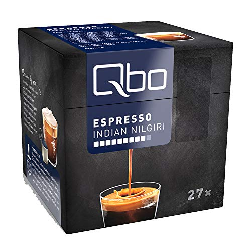 Qbo Kapseln - Espresso Indian Nilgiri (Kaffee, intensiv, vollmundig-kräftig) (216 Stück)