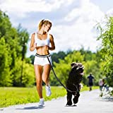 CUGLB Hände Frei Joggingleine mit Bauchgurt, Elastische Hundeleine Hands Free Leine Zubehör für Hunde Hundeleinen Set Reflektierende Bauchgurt mit 2 or 3 Tasche Taille (Rot) - 7