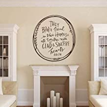 They Broke Bread in Their Homes & Ate Together with Glad and Sincere Hearts - Acts 2:46 Kitchen Wall Decal Dining room Decor(Black,m)